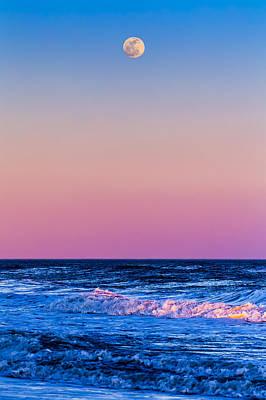 Full Moon At Sea Poster by Ryan Moore