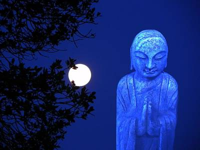 Full Moon Buddha Poster