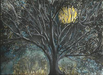 Poster featuring the painting Full Moon by Douglas Beatenhead