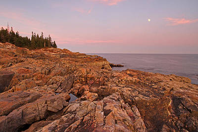 Full Moon Over Acadia National Park Poster by Juergen Roth