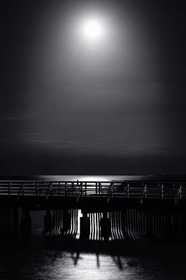 Full Moon Over Bramble Bay Poster