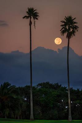 Full Moon Setting Poster