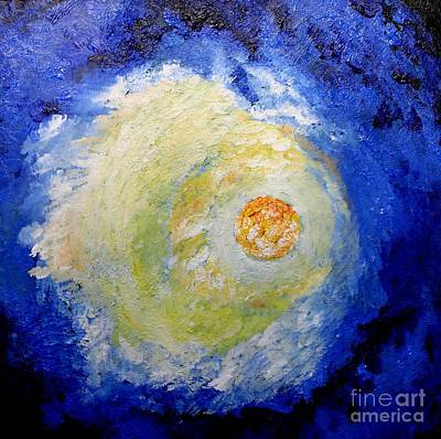 Poster featuring the painting Full Moon by Susanne Baumann