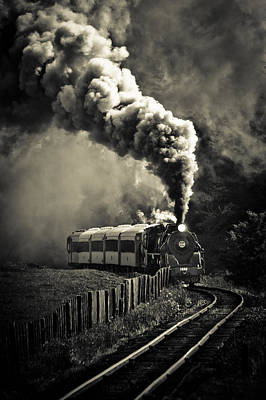 Full Steam Ahead Poster by Phil 'motography' Clark