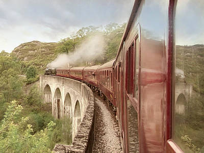 Poster featuring the photograph Full Steam Ahead by Roy  McPeak