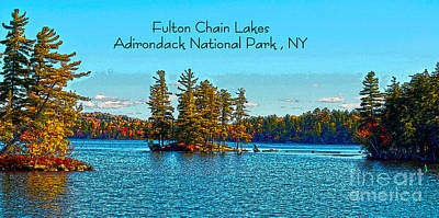 Fulton Chain Lakes  Poster by Diane E Berry