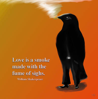 Fume Of Sighs - Williams Shakespeare Poster by Marcello Cicchini