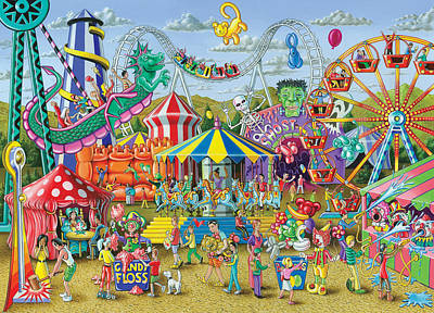 Fun At The Fairground Poster by Mark Gregory