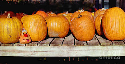Poster featuring the photograph Fun Pumpkin by Tom Brickhouse