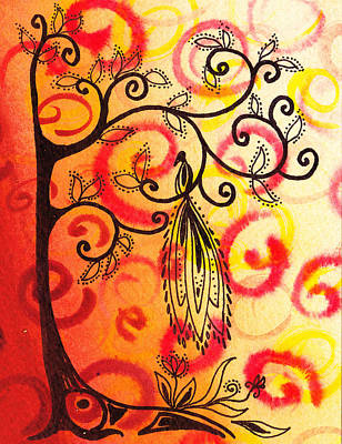 Fun Tree Of Life Impression II Poster by Irina Sztukowski
