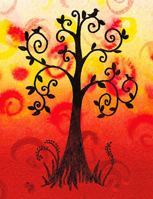 Fun Tree Of Life Impression IIi Poster by Irina Sztukowski