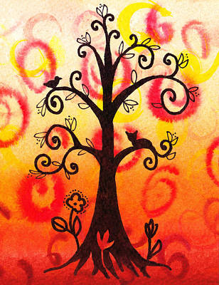 Fun Tree Of Life Impression V Poster by Irina Sztukowski