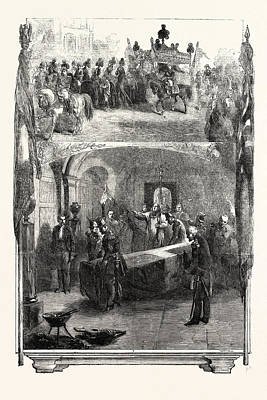 Funeral Of Marshal St. Arnaud At Paris Internment Poster by French School