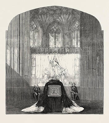 Funeral Of The Late Duchess Of Kent The Ante-chapel St Poster