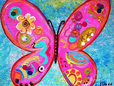 Funky Butterfly Poster by Eloise Schneider