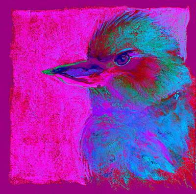 Funky Kookaburra Australian Bird Art Prints Poster