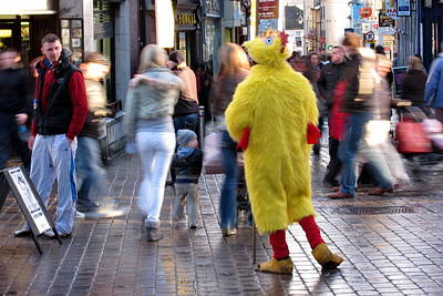 Funny Man In Chicken Costume Poster by Patrick Dinneen