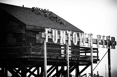 Funtown Pier Poster by John Rizzuto