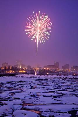 Fur Rondy Fireworks Poster by Dora Miller