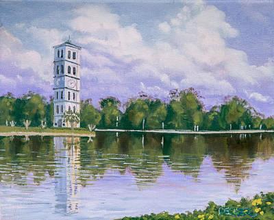 Furman University Clock Tower Poster by Robert Decker