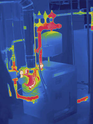 Furnace And Plumbing, Thermogram Poster