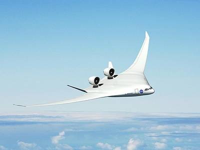 Future Hybrid Aircraft Poster by Nasa/boeing