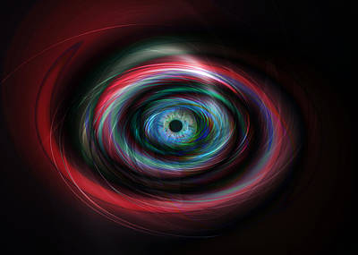 Futuristic Light Eye Poster by Steve Ball