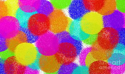 Fuzzy Polka Dots Poster
