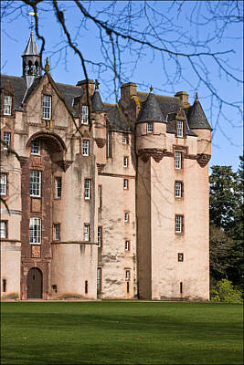 Poster featuring the photograph Fyvie Castle In Scotland by Liz  Alderdice
