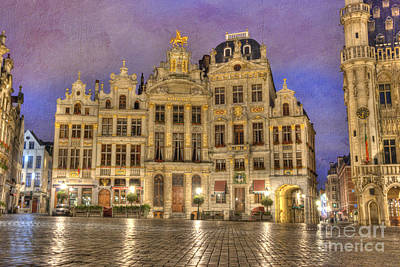 Gabled Buildings In Grand Place Poster by Juli Scalzi