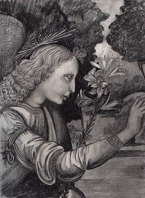 Gabriel At The Annunciation Poster by Estefan Gargost