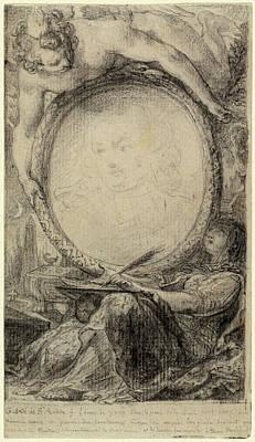 Gabriel Jacques De Saint-aubin, Allegorical Frame Poster by Quint Lox