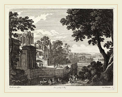 Gabriel Perelle, Large Landscape With Ruined Abbey Poster