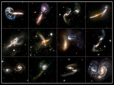 Galaxies Collide Collage Poster by Jennifer Rondinelli Reilly - Fine Art Photography