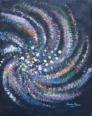 Poster featuring the painting Galaxy Swirl by Judith Rhue