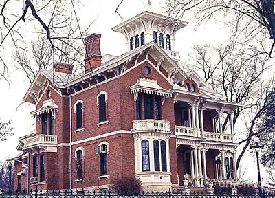 Galena Illinois. The Beautiful Victorian Belvedere Home. Poster