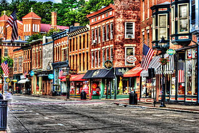 Galena Main Street Early Summer Morning Poster