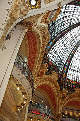 Galeries Lafayette Poster by Kathy Yates