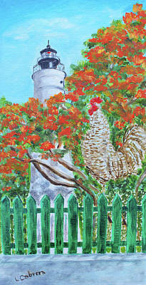 Gallo Pinto Rooster Poster