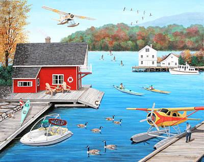 Galloping Goose Lake Poster