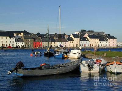 Galway Harbour At The Claddagh Poster by Lynda Cookson
