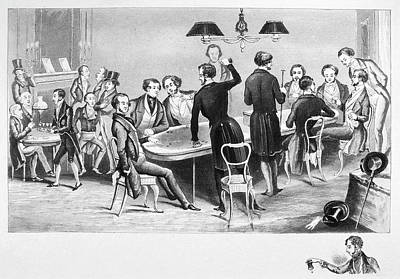 Gambling London, 1843 Poster