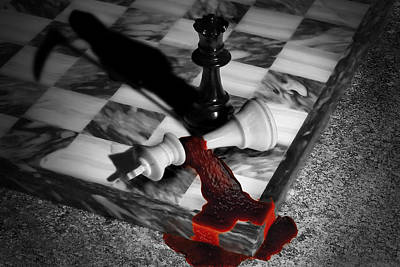 Game - Chess - Check Mate Poster by Mike Savad