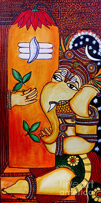 Ganapathy Poster by Saranya Haridasan
