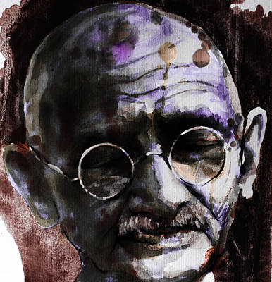 Poster featuring the painting Gandhi by Laur Iduc