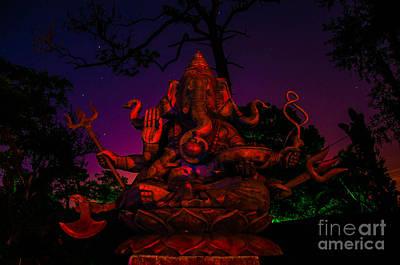 Ganesh At Night Poster