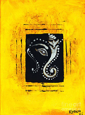 Ganesh Ocre  Poster by Kusum Vij