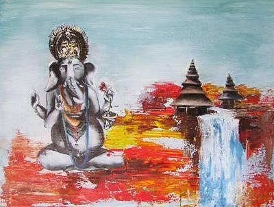 Ganesha Poster by Casey Pretzeus