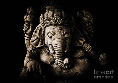 Ganesha The Elephant God Poster by Tim Gainey