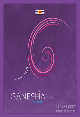 Ganesha The Remover Poster by Tim Gainey